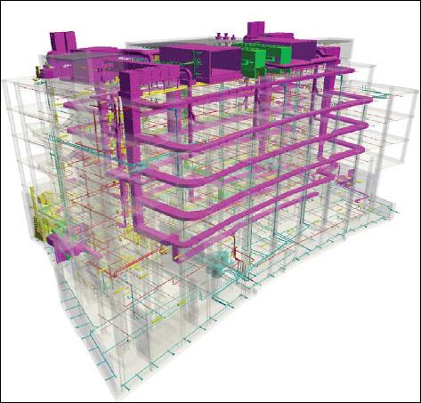 BIM Image on Color CAD plotter