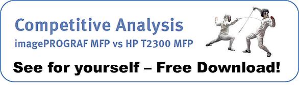 Canon MFP vs HP T2300 comparison CTA blog