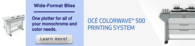 Oce ColorWave 500 plotter - get more info and download the brochure