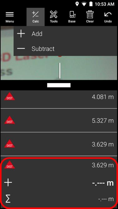 Add Subtract Measurement Values - Leica BLK3D