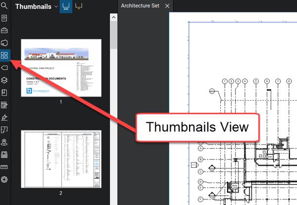 Thumbnails View - Bluebeam Revu - TAVCO