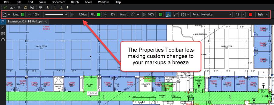Advanced Properties Toolbar