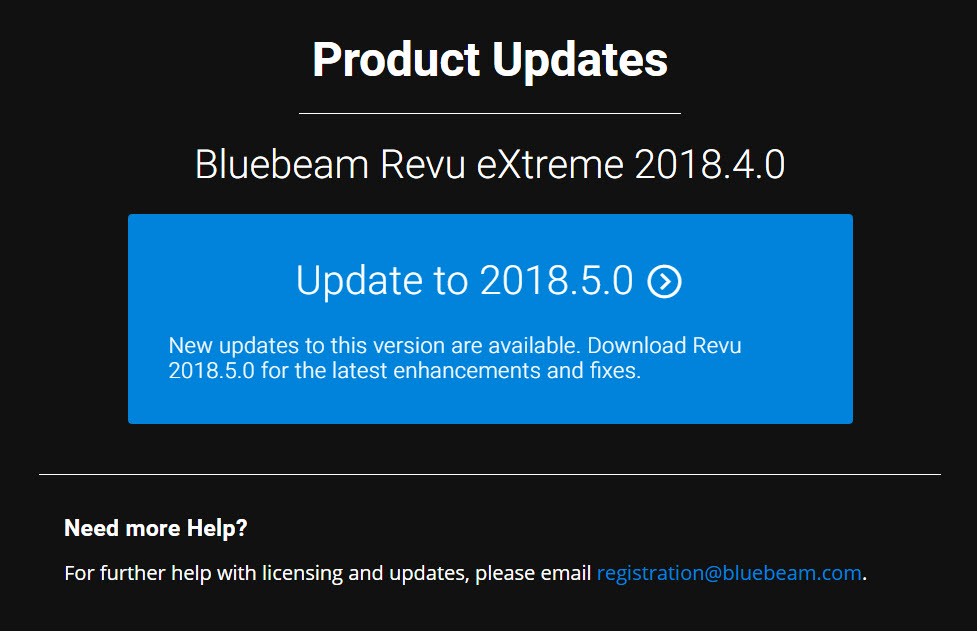 Upgrade to Revu 2018.5