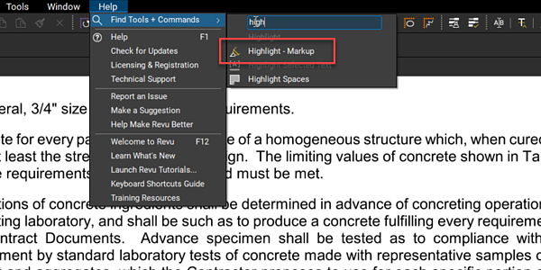 Find Markup - Highlight Tool - TAVCO