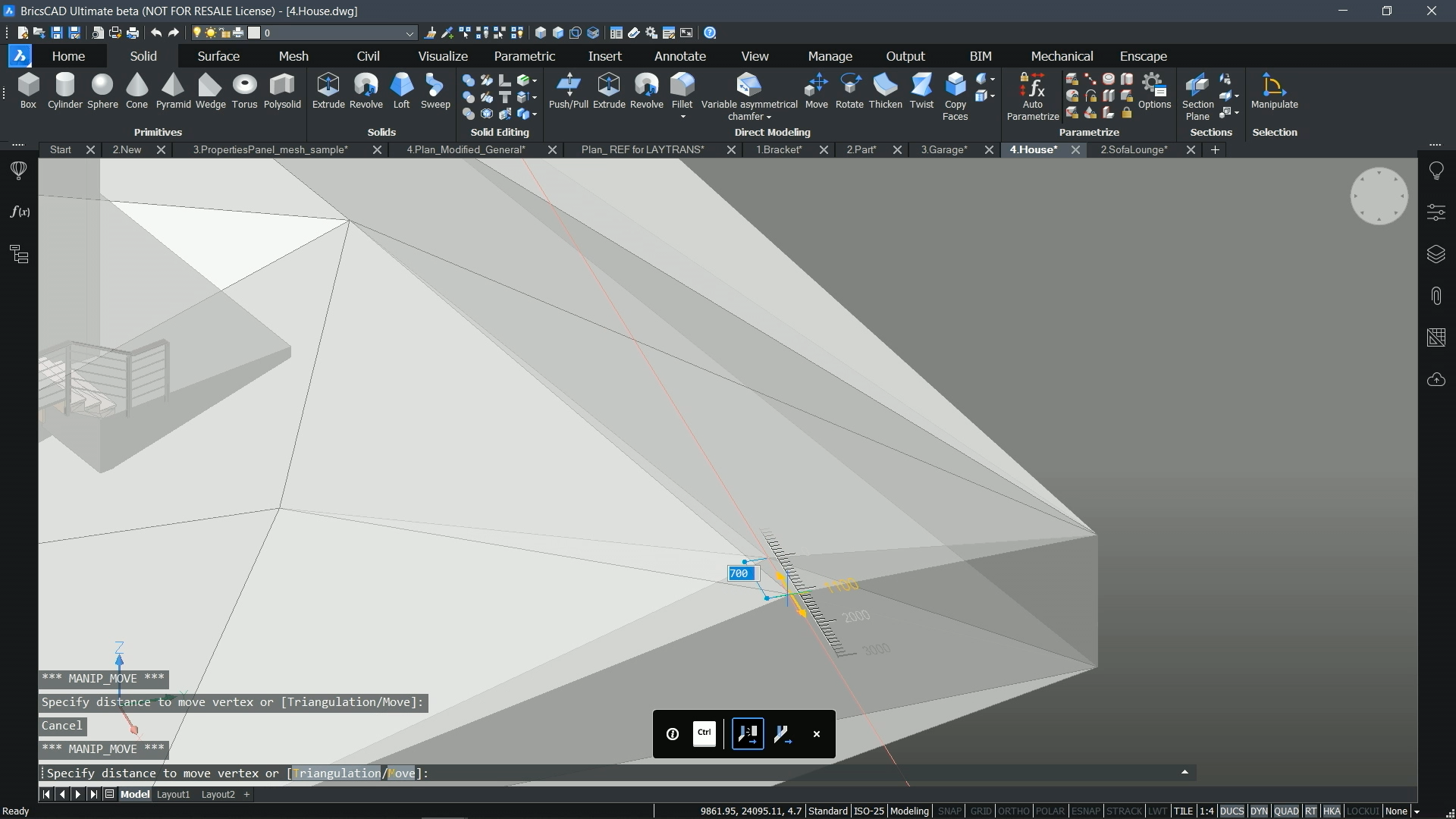 Move or rotate vertices with full control
