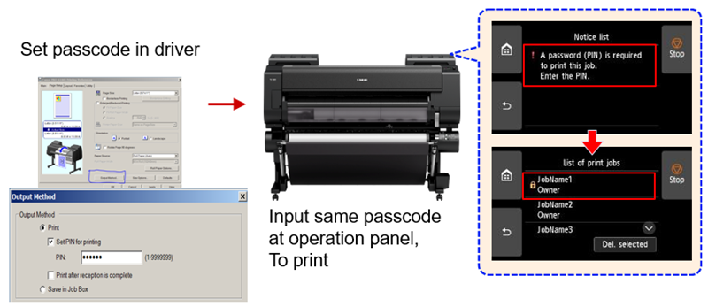PIN Passcod Secure Printing on PRO Printers - TAVCO