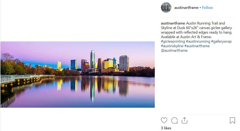 Austin Running Trail - Austin Art and Frame