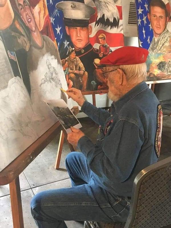 Ken Pridgeon honoring fallen warriors through ART