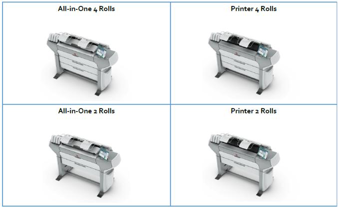 Oce plotters - ColorWave 500 configurations