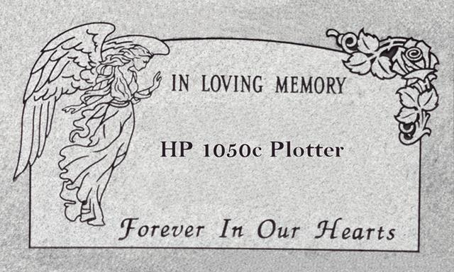 HP 1050c dead plotter headstone