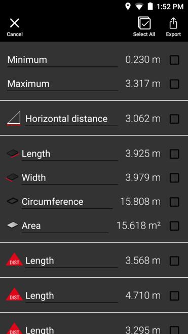 Export laser measurements - Leica BLK3D Imager