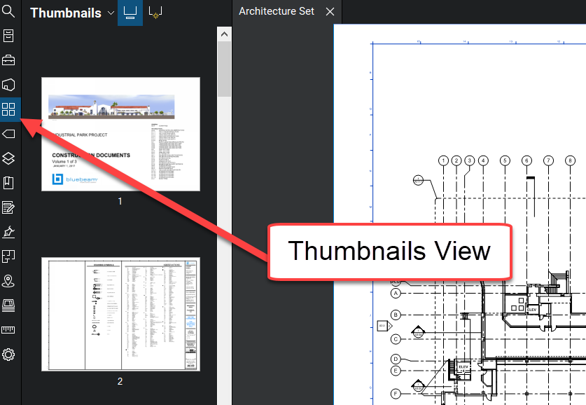 Thumbnails View - Bluebeam Revu - TAVCO