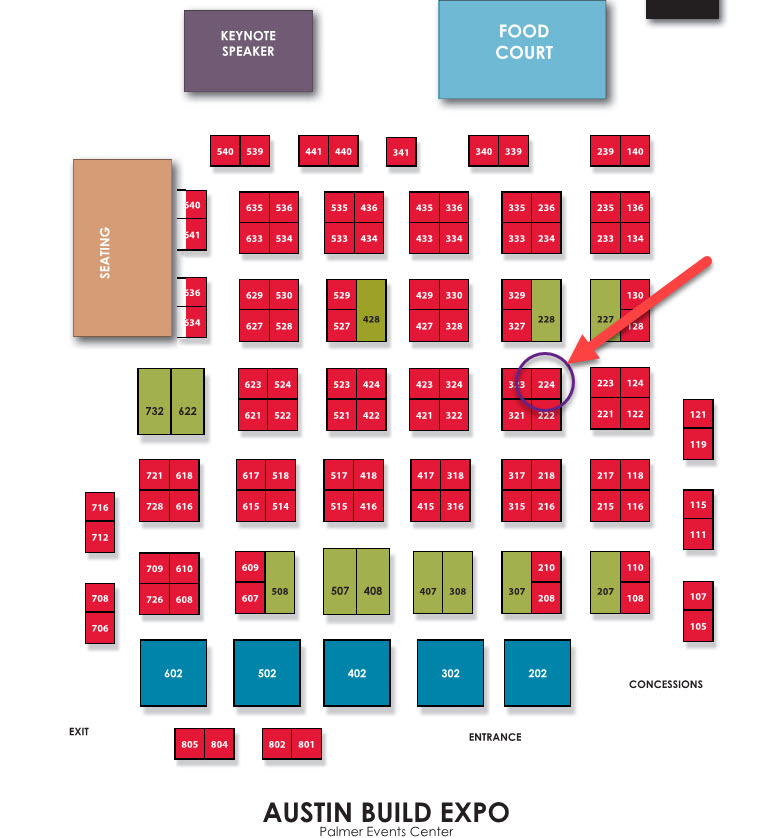 BuildExpo USA 2019 Floorplan - TAVCO Booth