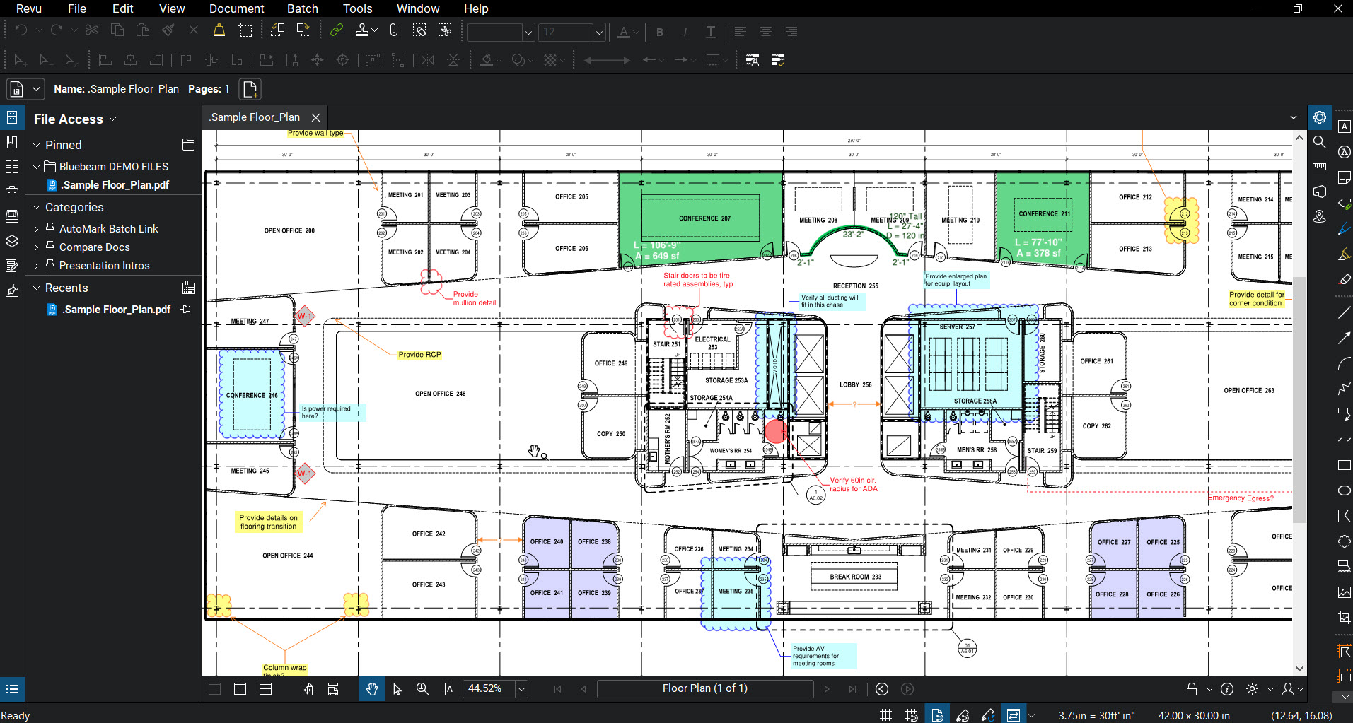 Bluebeam-Revu-2018-Markup-Screenshot